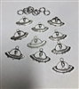 Alien in Spaceship Charms Pack of 10