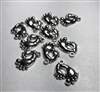Metal Antique Silver Baby Feet Charms Pack of 10 (NO HARDWARE)
