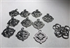 Metal Silver Compass Charms Pack of 10