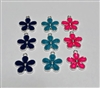 Metal Silver Flower Charms Pack of 9 (NO HARDWARE)