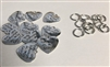 Metal Antique Silver Heart Charms Pack of 10 Charms