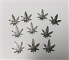 Pot Leaf Cannabis Marijuana Charms Pack of 10 (NO HARDWARE)