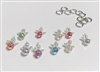Metal Silver Pearl Angel Charms Pack of 10