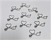Stethoscope Heart Charms Pack of 10 (NO HARDWARE)