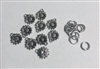 Metal Silver Sunflower Charms Pack of 10
