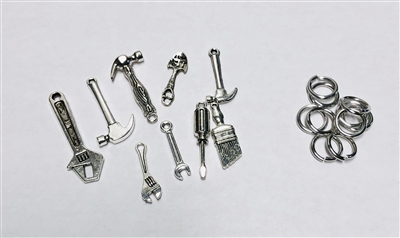 Metal Tools Charms (Great for Fathers)