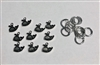 Metal Silver Baby Whale Charms Pack of 10