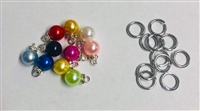 Round Pearl Charms Pack of 10