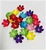 Plastic Bead Cap Flower 15MM Pack of 20