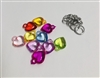 Plastic Hearts Multi Pack of 10 Charms
