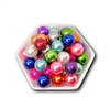 Glittered 20MM Bubblegum Beads (Mixed Bag of 3)