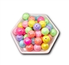 Pastel Pearl 20MM Bubblegum Beads (Mixed Bag of 3)