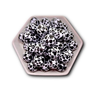 Cow Print 20MM Bubblegum Beads (Pack of 3)