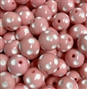 Polka Dot Pink 20MM Beads (Pack of 3)