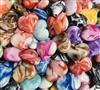 Marbled Hearts 23MM Beads (Pack of 3)