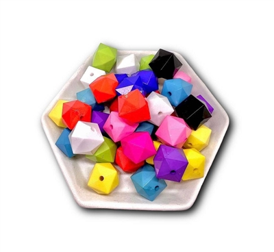 Faceted Cube 20MM Beads (Pack of 3)