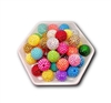 Rhinestone Multi Color 20MM Beads (Pack of 3)