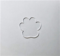 Badge Reel Paw Print NO HOLE