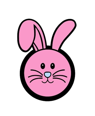 Badge Reel Bunny Circle NO HOLE