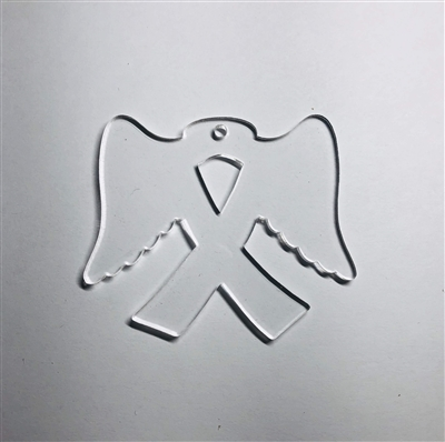 Awareness Ribbon With Wings 3""
