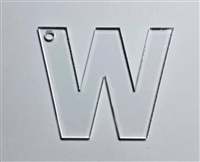 Letter W Bold 2.5""