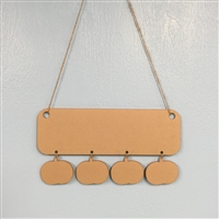 Holiday Wall Hanger with 4 Items