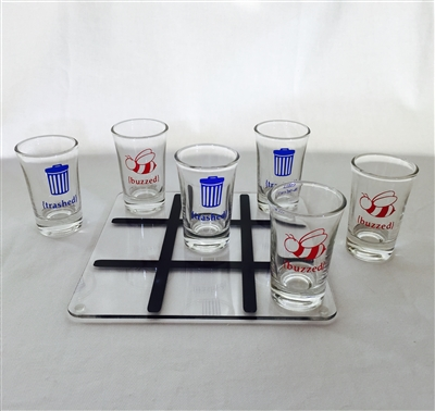 Shot Glass Tic Tac Toe Board (Glasses Not Included)