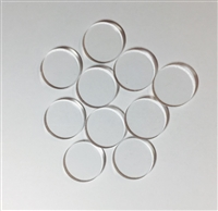 10 One Inch Circle Blanks for Shot Glass Tic Tac Toe Boards