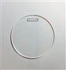 Circle Luggage Tag 3""