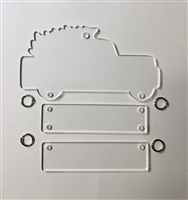 Christmas Truck Ornament Hanger 5""