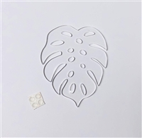 Monstera Leaf Coaster 4""