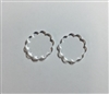 Scallop Post Earrings (Pair) 0.75""