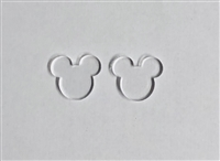 Mouse Head Male Post Earrings (Pair) 0.66""