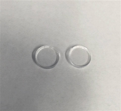 Clear Circle Earrings 16mm BULK ORDER 50 Pairs