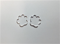 Paw Print Post Earrings 16mm