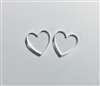 Heart Post Earrings (Pair) 0.6""