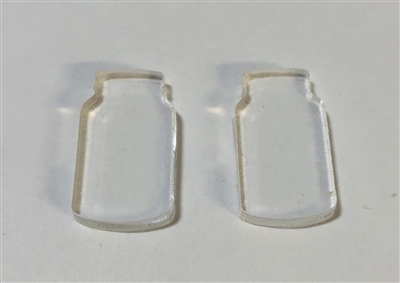 Mason Jar Post Earrings (Pair) 0.75""