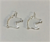 Unicorn Post Earrings (Pair) 0.69""