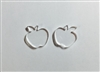 Apple Post Earrings (Pair) 0.67""