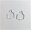 Cow Tag Post Earrings (Pair) 0.7""