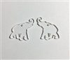 Elephant Dangle Earrings (Pair) 1""
