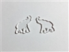 Elephant Post Earrings (Pair) 0.75""