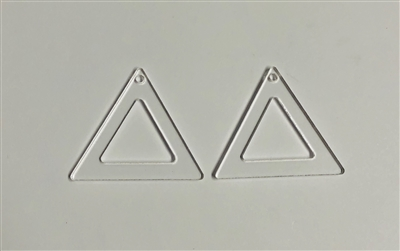Open Triangle Dangle Earrings (Pair) 1.75""