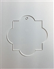 Quatrefoil Square Ornament 4.5""