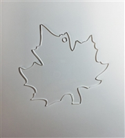 Maple Leaf Ornament 4.5""