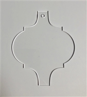 Arabesque Tile Ornament 4.5""