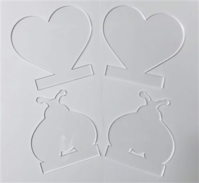 Heart / Ladybug Light Stand Sets (LIGHT BASE NOT INCLUDED)