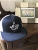 Flat Bill Baseball Hat Navy Blue