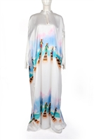 Ayanski Silk Kaftan with High Neck RTW23D1158KFSK60 Size 60