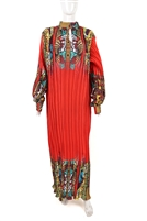 Ayanski Long Sleeve Pleated Silk Dress with High Neck- Small Size RTW34D544PSDS56/58